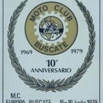 Targa 10° Anniversario Moto Club Europa Buscate